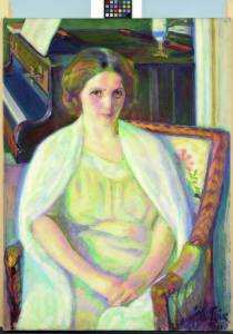 Nikolai Triik. Portrait of Alviina Hyllestedt. 1911. Oil on canvas. 93 x 67 cm. Art Museum of Estonia