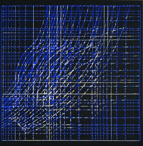Raul Meel. Under the Sky No. 4. 1973. Silk-screen print.  64.8 × 63.1 cm. Art Museum  of Estonia.