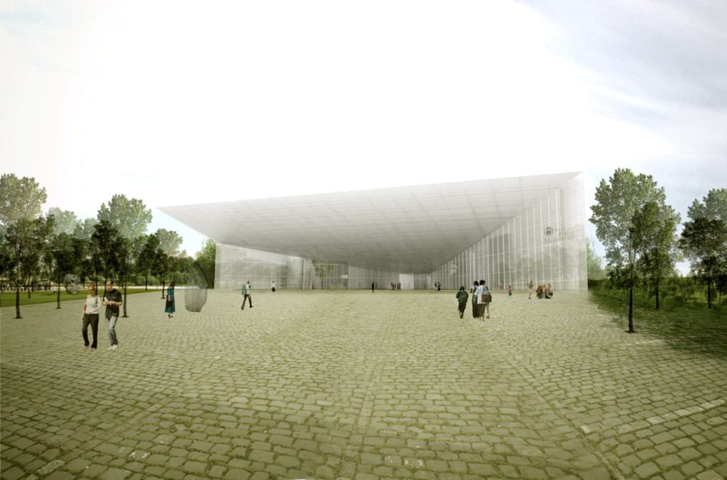 Memory Field. New  building of the Estonian  National Museum.  SARL D'Architecture  Dorell Ghotmeh Tane  Architectural Bureau. To  be completed in 2016. Photo by Estonian National Museum.