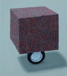 Kaido Ole. Still Life with Stone. 2011. 63 x 55.5 cm. Oil on canvas