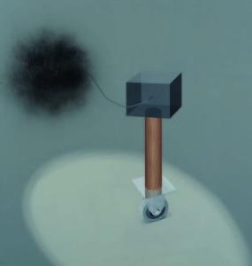Kaido Ole. Still Life with Black Death. 2011. 200 x 190 cm. Oil and alkyde spray on canvas